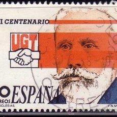 Sellos: ESPAÑA. 1988. I CENTENARIO DE LA UGT. EDIFIL 2948. Lote 36314513