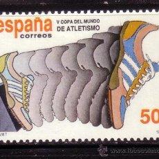 Sellos: ESPAÑA 3023*** - AÑO 1989 - DEPORTES - COPA DEL MUNDO DE ATLETISMO. Lote 36452347