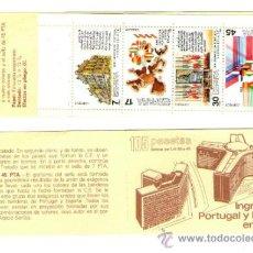 Sellos: CARNET DE SERIE COMPLETA SELLOS NUEVOS - INGRESO DE PORTUGAL Y ESPAÑA EN LA C.E. - AÑO 1986. Lote 36572218