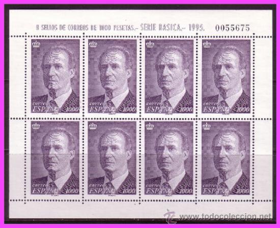 1995 S.M. DON JUAN CARLOS I, MINIPLIEGO EDIFIL Nº 50 * * (Sellos - España - Juan Carlos I - Desde 1.986 a 1.999 - Nuevos)