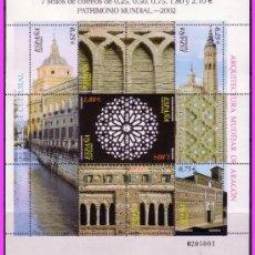 Sellos: 2002 PATRIMONIO MUNDIAL DE LA HUMANIDAD, MINIPLIEGO EDIFIL Nº 80 * *. Lote 36592081