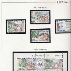 Sellos: SELLOS ESPAÑA 1980 COMPLETO MONTADO ESTUCHES HOJAS EDIFIL MNH. Lote 36652458