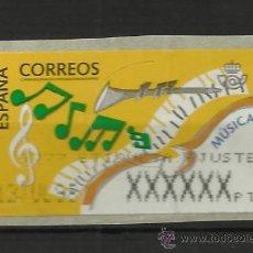 Francobolli: ESPAÑA ATM MUSICA ARTE ETIQUETA DE AJUSTE. Lote 37366621