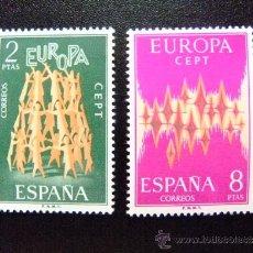Sellos: ESPAÑA AÑO 1972 EDIFIL Nº 2090 / 91 ** YVERT Nº 1744 / 45 ** EUROPA CEPT. Lote 37424480