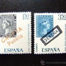 Sellos: ESPAÑA AÑO 1968 EDIFIL Nº 1869 / 70 ** YVERT Nº 1521 / 22 ** DIA DEL SELLO. Lote 37425191