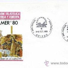 Sellos: ESPAÑA, 1980 EXPOFILCA ESPAMER'80, OVIEDO VIRGEN QUITEÑA, VIRGEN DE LOS MAREANTES. Lote 37537045