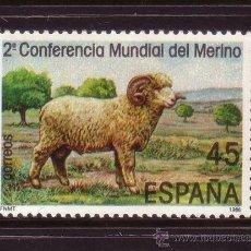Sellos: ESPAÑA 2839*** - AÑO 1986 - CONFERENCIA MUNDIAL DEL MERINO - FAUNA - ANIMALES DOMESTICOS. Lote 37581717