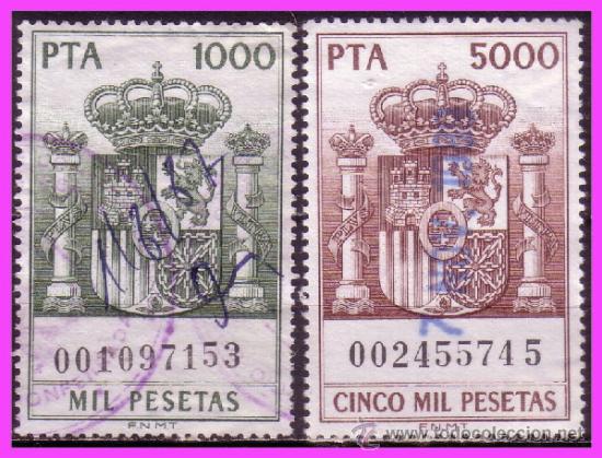 1985 PÓLIZAS, FISCALES ALEMANY Nº 765 Y 766 (O) (Sellos - España - Juan Carlos I - Desde 1.975 a 1.985 - Usados)