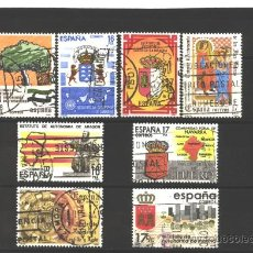 Timbres: ESPAÑA 1984 - EDIFIL NRO. 2735-42 - ESTATUTOS DE AUTONOMIAS - USADOS. Lote 38178264