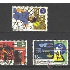 Timbres: ESPAÑA 1984 - EDIFIL NRO. 2732-34 - PREVENCION ACCIDENTES LABORALES - USADO. Lote 38178278