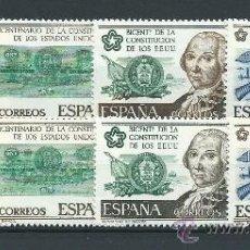 Sellos: BICENTENARIO DE LA INDEPENCIA DE ESTADOS UNIDOS;2 COLECCIONES, NUEVOS** S/F, CAT. 4,30 EUROS. Lote 38427423