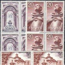 Sellos: ESPAÑA 1976 MONASTERIO DE SAN PEDRO DE ALCANTARA ** SERIE COMPLETA BLOQUE 4 SELLOS SIN FIJASELLOS. Lote 86183480