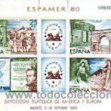 Francobolli: ESPAÑA 2583 - HB. ESPAMER '80. NUEVA SIN FIJASELLOS. FACIAL 1,20€.. Lote 38683379