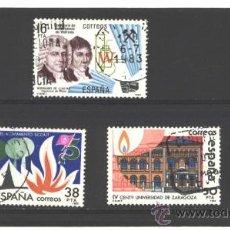 Timbres: ESPAÑA 1983 - EDIFIL NRO. 2715-17 - GRANDES EFEMERIDES - USADOS. Lote 38810899