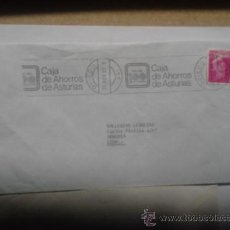 Sellos: CARTA DE OVIEDO CON PUBLICIDAD DEL 80, LA PUBLICIDAD POR DETRAS MAS SELLO. Lote 38966405