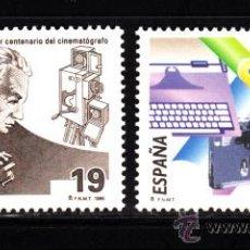Sellos: ESPAÑA 3362/63** - AÑO 1995 - CENTENARIOS - CENTENARIO DEL CINE - ASOCIACION DE LA PRENSA DE MADRID. Lote 39228255