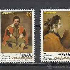 Sellos: ESPAÑA 1999, EDIFIL. Nº 3658/3659**, DIEGO VELAZQUEZ.. Lote 39351229