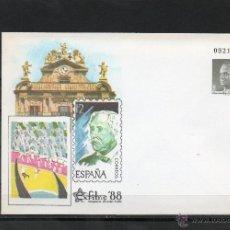 Sellos: SOBRE ENTERO POSTAL DEL AÑO 1988 DE EXFINA DE PAMPLONA . Lote 39354686