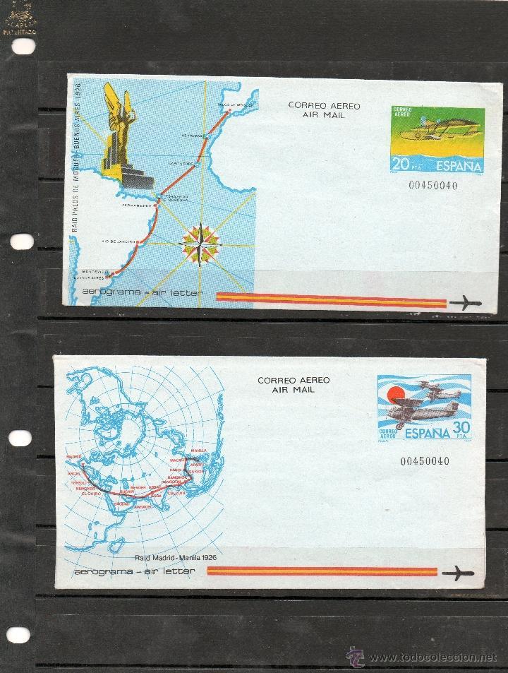 AEROGRAMAS EN NUEVO DEL AÑO 1981 (Sellos - España - Juan Carlos I - Desde 1.975 a 1.985 - Nuevos)