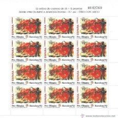 Sellos: ESPAÑA 1992, MINIPLIEGOS DE BARCELONA´92VIII SERIE PREOLIMPICA, Nº 3157/9, CAT. 31,20 EUROS. Lote 39369034