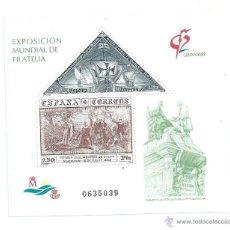 Sellos: EXPOSICION MUNDIAL DE FILATELIA, GRANADA´92, NUEVO** S/F. Lote 39379437