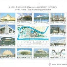 Sellos: EXPOSICION UNIVERSAL DE SEVILLA, EXPO´92, AÑO 1992. Lote 39379537