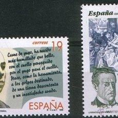 Sellos: ESPAÑA 1995 EDIFIL 3356/7 SELLOS ** LITERATURA ESPAÑOLA PERSONAJES EL NIÑO YUNTERO VIENTO DEL PUEBLO. Lote 39463472