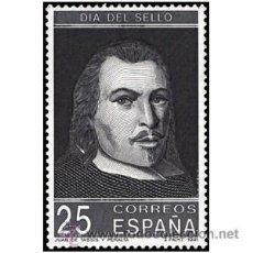 Sellos: ESPAÑA 1991- DÍA DEL SELLO. SELLO PROCEDENTE DE MINI-HOJITAS. JUAN DE TASSIS Y PERALTA. 25 PESETAS. Lote 39716886