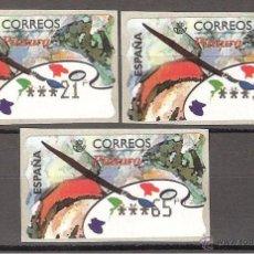Sellos: ATM ESPAÑA PTAS 1 SERIE DE 5 DIGITOS ANCHOS -PINTURA- LIQ.COLECCIÓN-. Lote 39740718
