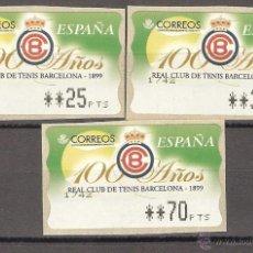 Sellos: ATM ESPAÑA PTAS 1 SERIE DE 4 DÍGITOS EPELSA CLUB TENIS BARCELONA - LIQ.COLECCIÓN-. Lote 39740925