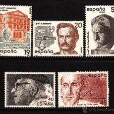 Sellos: ESPAÑA 2880/84** - AÑO 1987 - CENTENARIOS . Lote 39761536