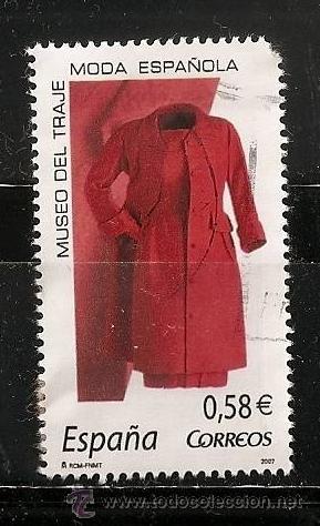 ESPAÑA 2007-MODA ESPAÑOLA MUSEO DEL TRAJE 0.58€ (Sellos - España - Juan Carlos I - Desde 2.000 - Usados)