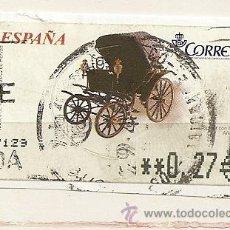 Sellos: ESPAÑA 2003 ATM COCHE ANTIGUO SPIDER CON CAPOTA. Lote 39781028