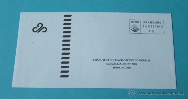 SOBRE FRANQUEO EN DESTINO F.D. CONSORCIO DE COMPENSACIÓN DE SEGUROS (Sellos - España - Juan Carlos I - Desde 2.000 - Cartas)