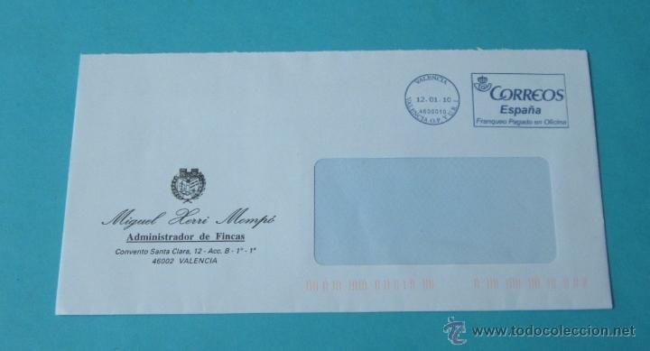 SOBRE CON MATASELLO FRANQUEO PAGADO EN OFICINA (Sellos - España - Juan Carlos I - Desde 2.000 - Cartas)