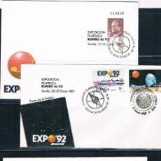 Sellos: ESPAÑA. 9 SOBRES Y CUATRO POSTALES DE LA EXPO 92. Lote 40476626