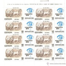 Sellos: ESPAÑA --1983--HOJA BLOQUE EXPO.MUNDIAL FILATÉLIA ESPAÑA 84--NUEVO. Lote 40596799