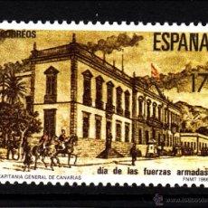 Sellos: ESPAÑA 2849** - AÑO 1986 - DIA DE LAS FUERZAS ARMADAS - CAPITANIA GENERAL DE CANARIAS. Lote 40730315