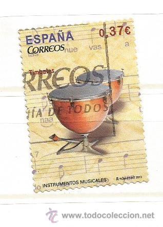 ESPAÑA 2013. INSTRUMENTOS MUSICALES TIMBALES (Sellos - España - Juan Carlos I - Desde 2.000 - Usados)