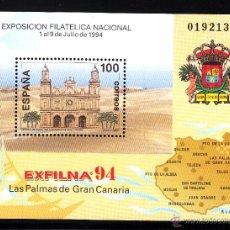 Sellos: ESPAÑA 3313** - AÑO 1994 - EXPOSICION FILATELICA NACIONAL EXFILNA 94 - CATEDRAL DE LAS PALMAS. Lote 40761525