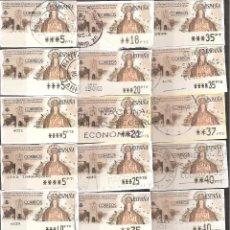Sellos: ATM PESETAS COLECCION DE 35 ATMS VIRGEN CIRCULADOS DISTINTOS VALORES Y VARIANTES DE IMPRESION. Lote 40979081