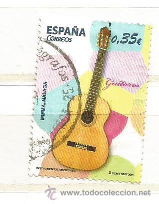 ESPAÑA 2011. INSTRUMENTOS MUSICALES, GUITARRA (Sellos - España - Juan Carlos I - Desde 2.000 - Usados)