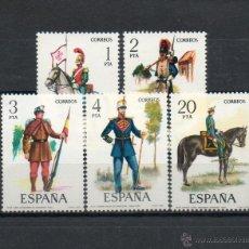 Sellos: ESPAÑA=Nº 2381/85=UNIFORMES MILITARES=AÑO 1977=REF:0812. Lote 41076916