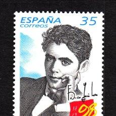 Sellos: ESPAÑA 3549** - AÑO 1998 - CENTENARIO DEL NACIMIENTO DE FEDERICO GARCIA LORCA. Lote 41085975
