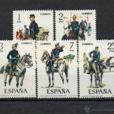 Sellos: ESPAÑA=Nº 2423/27=UNIFORMES MILITARES=AÑO 1977=REF:0824. Lote 41092877
