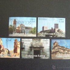 Sellos: ESPAÑA Nº YVERT 4368/2* AÑO 2012. TODOS CON LORCA. SERIE COMPLETA USADA. Lote 218544773