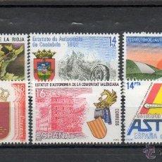 Sellos: ESPAÑA=Nº 2686/91=ESTATUTOS DE AUTONOMIA=AÑO 1983=REF:0910. Lote 41285726