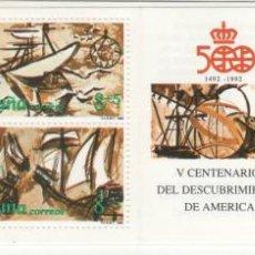 Sellos: CARTERITA.1990.-V CENTENARIO DEL DESCUBRIMIENTO DE AMÉRICA. VIAJES. Lote 41307610
