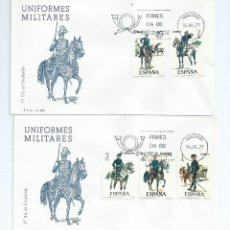 Sellos: UNIFORMES MILITARES, AÑO 1977, Nº 2381/85, S.P.D.. Lote 41365043
