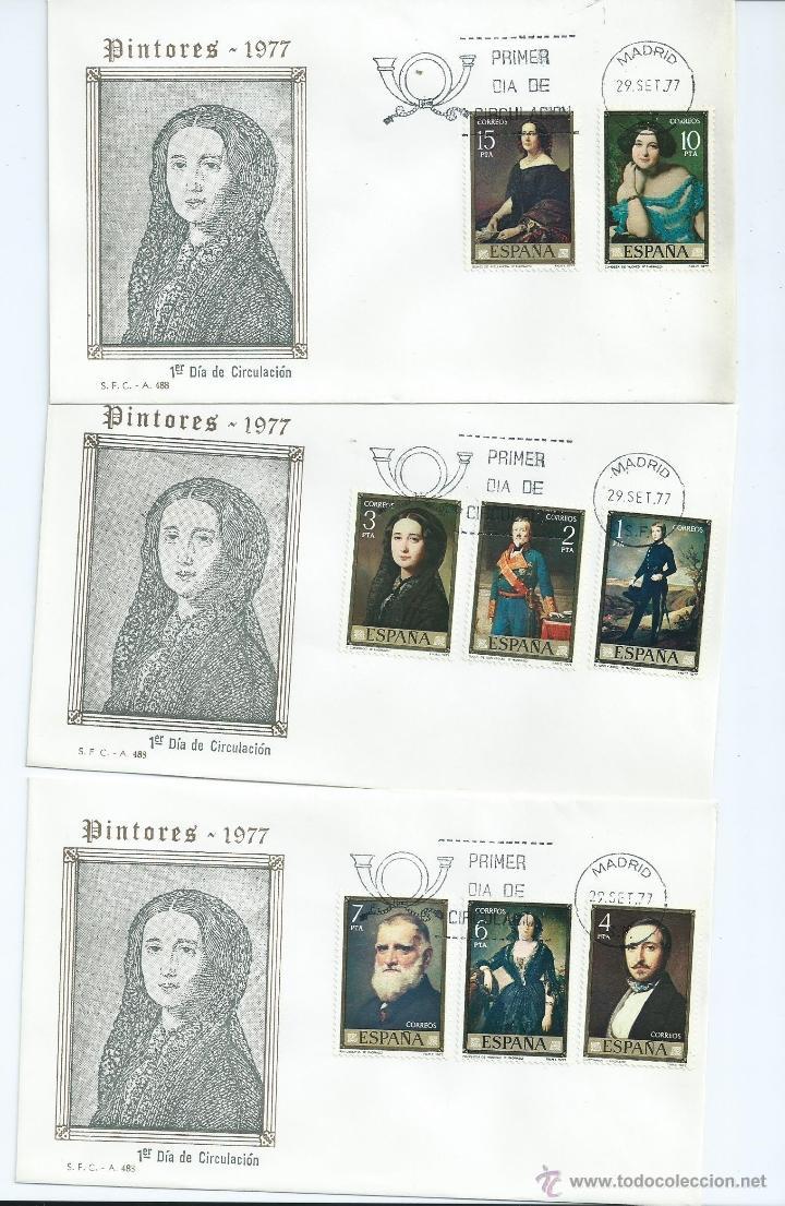 FEDERICO MADRAZO, AÑO 1977, Nº 2429/36, 3 S.P.D. (Sellos - España - Juan Carlos I - Desde 1.975 a 1.985 - Cartas)
